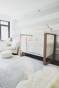 stripes in a neutral nursery