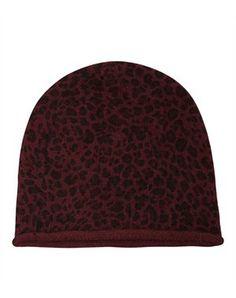 3da6084ac03 leopard printed angora beanie - burgundy by fwss via you he she
