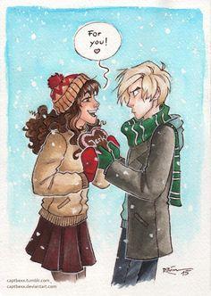 Draco and Hermione by captbexx