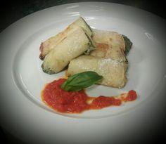 I cannelloni di crespelle gratinati, con ripieno di ricotta e spinaci