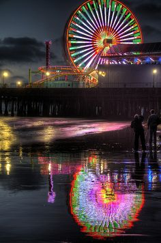 """Wheel and Reflection by Dave Reichert on Flickr. """"At the Trey Ratcliff Photowalk, Santa Monica, CA."""""""