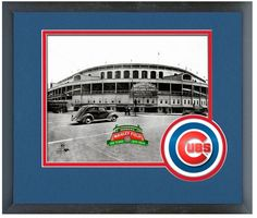 """Cub's Wrigley Field 100th Anniversary - 11 """"x 14"""" Framed/Matted Portrait Pluses"""