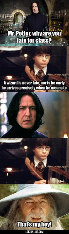 Mr. Potter, Why Are You Late For Class?#funny #lol #lolzonline