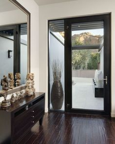 Ideas For Modern Glass Front Door Entrance Door Glass Inserts, Entry Doors With Glass, Glass Front Door, Glass Door, Glass Panels, Contemporary Front Doors, Modern Front Door, Modern Entryway, Entry Way Design