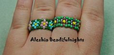 Daisy Chain Stitch Beaded Ring Tutorial.  (How to close the ring.)