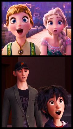 Ha! Must be a similar trait of younger siblings. << same! My face looks like Anna's and Hiro's a lot xD