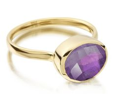 Candy Oval Ring in 18ct Gold Vermeil on Sterling Silver with Amethyst | Jewellery by Monica Vinader