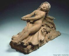 Joseph Chinard ((lyon 1756 - 1813). La jeunesse ou l'innocence sur l'Océan de la vie dirigée par l'Amour. Terre cuite. Salon de 1798, n° 511.