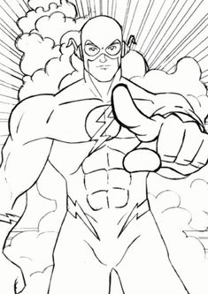 Fun Flash coloring pages for your little one. They are free and easy to print. The collection is varied with different skill levels Superhero Coloring Pages, Sports Coloring Pages, Coloring Book Pages, Coloring Pages For Kids, The Flash, Super Hero Coloring Sheets, Héros Dc Comics, Flash Drawing, Flash Characters