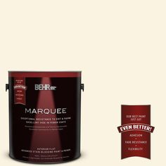 BEHR MARQUEE 1-gal. #360A-1 Social Butterfly Flat Exterior Paint
