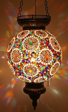 Mosaic Hanging Lamp. wow really loving this different mosaic style