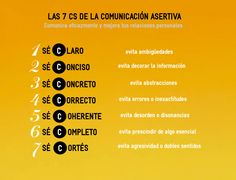 Las 7 Cs de la Comunicación Asertiva                                                                                                                                                     Más