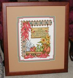 Cross stitch Southwest theme.