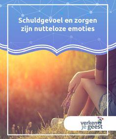 Schuldgevoel en zorgen zijn nutteloze emoties   Ons leven zit vaak vol #schuldgevoel en zorgen, twee emoties die helemaal niets goeds aan ons leven #toevoegen, maar die we vaak zeer #belangrijk maken.  #Emoties