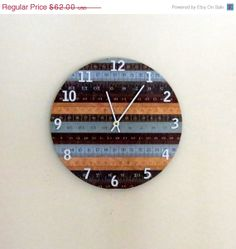 Unique Wall Clock, Clock With Numbers, Home Decor, Decor and Housewares, Home and Living, , Ruler Wall Clock