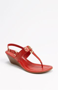 26f828a94815e7 Red Tory Burch wedges.  hot  summer  shoes Red Wedges