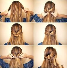 Elegant-Bow-Braided-Hairstyle F