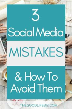 3 Social Media Mistakes & How To Avoid Them - Let's explore 3 common mistakes to help you m… Social Media Marketing Business, Facebook Marketing, Social Media Tips, Online Marketing, Online Business, Digital Marketing, Content Marketing, Business Education, Affiliate Marketing