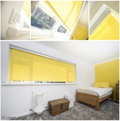 Motorised Roller Blind with a stylish silver Senses Fascia. Wooden Window Blinds, Wood Blinds, Blinds For Windows, Blinds Design, House Blinds, Roller Blinds, Space, Stylish, Storage