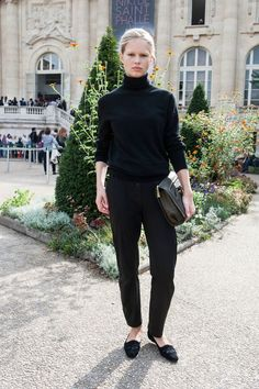 classic black on black look #style #fashion #streetstyle