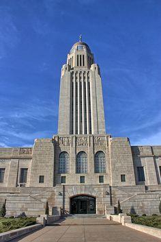 Nebraska State Capitol. Haymarket, Lincoln, NE, USA.