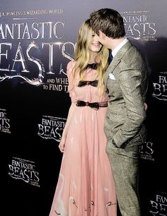 Eddie Redmayne with his wife Hannah at the Fantastic Beasts And Where To Find Them World Premiere - November 10, 2016
