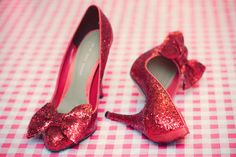 Dorothy all grown up. Morrow, red sparkly shoes always remind me of you! Red Sparkly Shoes, Red Shoes, Dorothy Shoes, Ruby Red Slippers, My Left Foot, Pink Wedding Shoes, To Go, Killer Heels, Pink Glitter