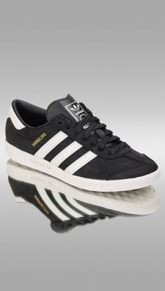 6044812666841 The iconic Hamburg silhouette in black  amp  white from adidas Originals
