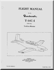 Beechcraft T-34 C-1  Aircraft  Flight  Manual  , 1977