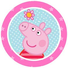 Peppa Pig Lollipop Birthday Party Favors by NightNightLight