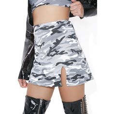 9818b14b5b1c55 O Mighty Camo Baby Skirt (£20) ❤ liked on Polyvore featuring skirts