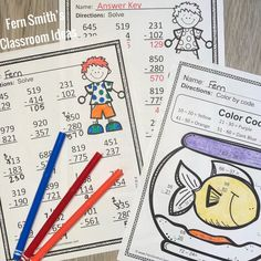 Grade Go Math Use Place Value to Subtract Color By Numbers 5th Grade Teachers, Third Grade Math, Fourth Grade, Grade 3, Subtraction Strategies, Subtraction Activities, Math Rotations, Math Centers, Math Coloring Worksheets