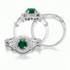 We made this bridal with CHROME DIOPSIDE as the center stone. It's such a brilliant shade of green. we love the way it makes this ring some pizazz!