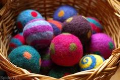 Felt Balls by kneek, via Flickr