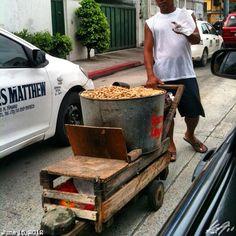 Traffic snack street food - Mani peanuts - Philippines