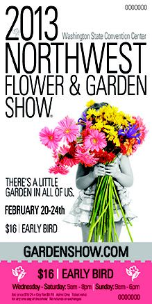$16 Early Bird #nwfgs Tickets - Now available in retail outlets, online or on Facebook! #garden www.gardenshow.com