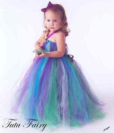 Little Mermaid Inspired Tutu Dress 3 piece Set by TutuFairy