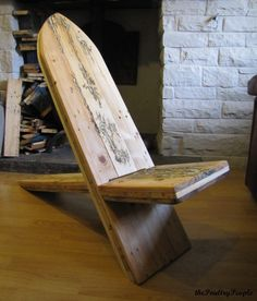 Viking Chair With Lichtenberg Figure Filled With Glow In The Dark Resin! Benches & Chairs