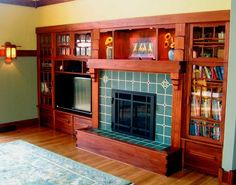 Prodigious Useful Ideas: Fireplace Built Ins With Desk fireplace ideas hearth.Electric Fireplace With Tv Above limestone fireplace unique.Concrete Fireplace With Shelves. Fireplace Art, Craftsman Fireplace, Fireplace Built Ins, Fireplace Remodel, Fireplace Surrounds, Fireplace Design, Fireplace Ideas, Simple Fireplace, Fireplace Kitchen