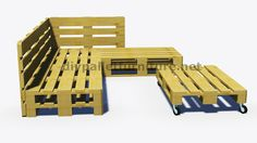 Instructions and 3D plans of how to make a sofa for the garden with pallets8