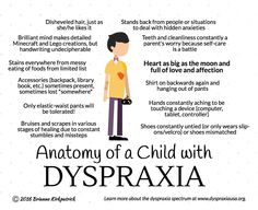 Anatomy of a Child with Dyspraxia Dyslexia Strategies, Adhd Odd, Coaching, Dyscalculia, Counseling Activities, Apraxia, Sensory Processing Disorder, Autism Spectrum Disorder, Special Needs Kids