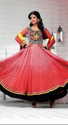 Bollywood Star Sonal Chauhan Jacquard Anarkali Suit