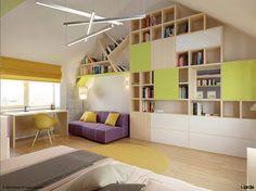 Lindo exemplo de como #escritório e quarto podem conviver num mesmo cômodo harmoniosamente. Inspire-se! #home