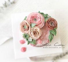 퓨어 핑크 버터 크림 '플라워 케이크' : 네이버 블로그