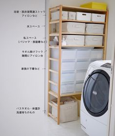 Pin on 家 Kitchen Organisation, Organisation Hacks, Shop Organization, Laundry Room Organization, Laundry In Bathroom, Small Bathroom, Muji Home, Muji Style, Hm Home