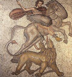 Mosaic romà de Belerofont i la Quimera.