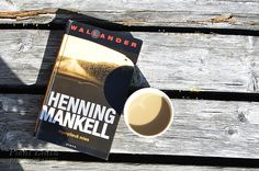 Coffee and reading Henning Mankell's Wallander books