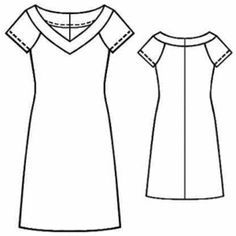 Kleid mit V ausschnit http://m-sewing.com/patterns-catalog/women/dresses/knitted-dress-with-a-raglan-sleeve.html