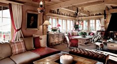 swiss chalet interiors pics | Chalet Maldeghem Traditional interiors 2