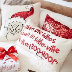 Christmas 2014 Love! #DrSeussNUT! The Grinch™ Pillow Covers #pbteen